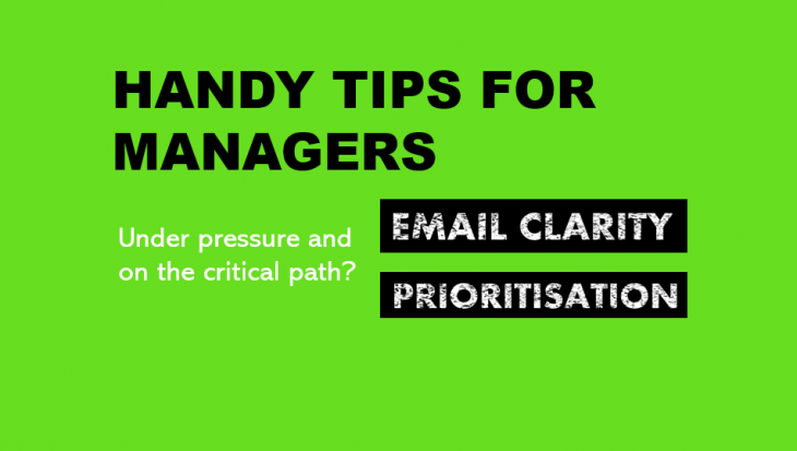 handy tips for managers on the critical path